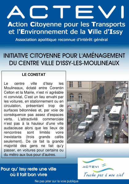 Initiative d'ACTEVI pour le centre ville d'Issy